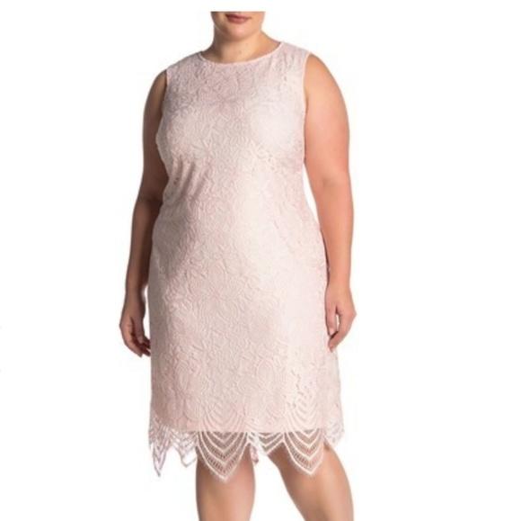 Sharagano Dresses & Skirts - Sharagano scallop lace tank dress